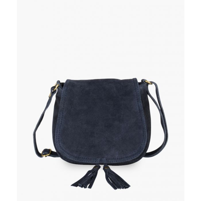 Image for Navy blue leather shoulder bag