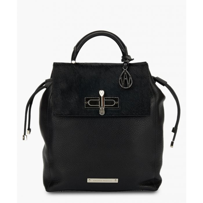 Image for Mini Elba black leather backpack