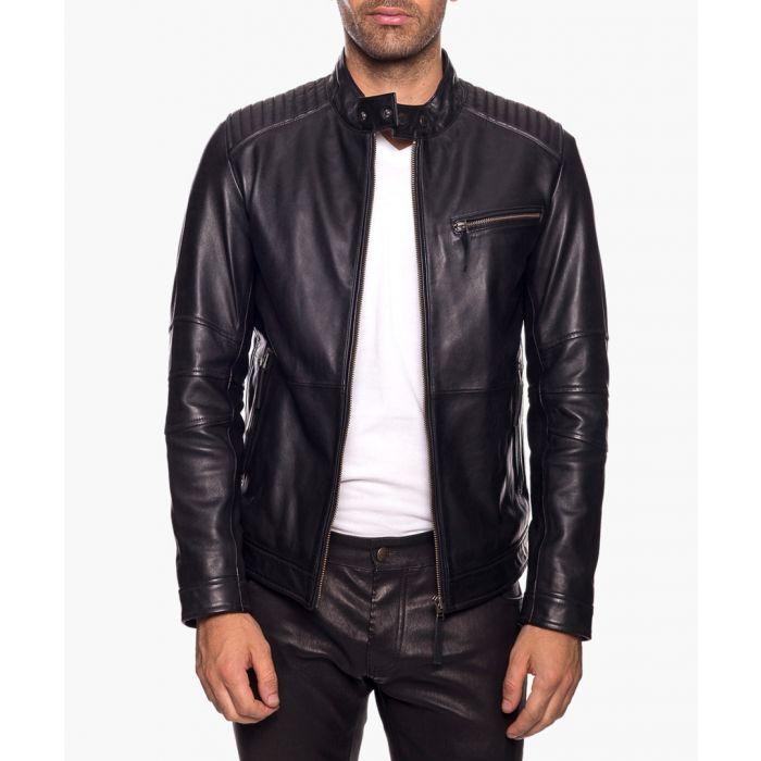 Image for Link wody black leather jacket