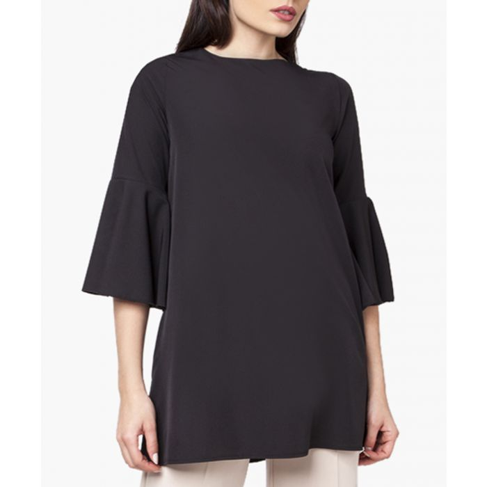 Image for Black woven tunic shirt