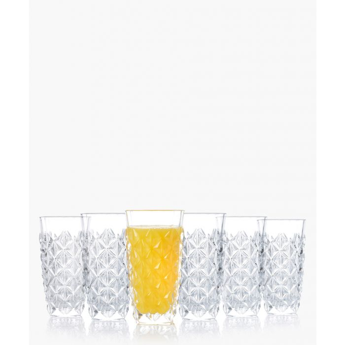 Image for 6pc Enigma Luxion Crystal glass hi-Ball tumbler set 400ml