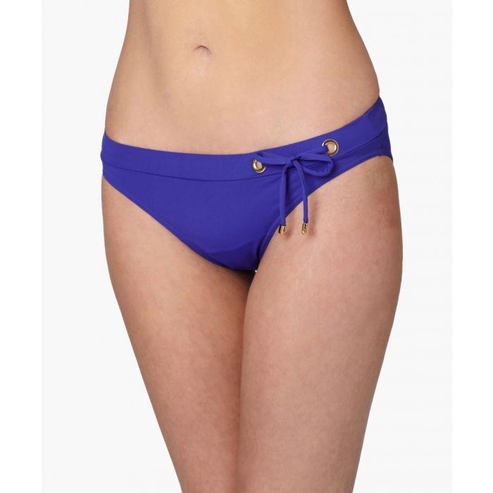 Image for Dressy blue side tie bikini briefs