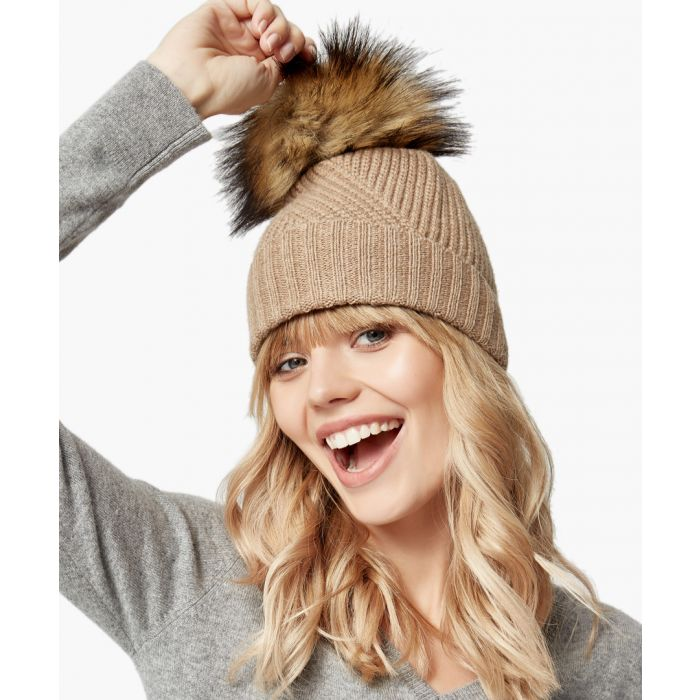 Image for Camel pure cashmere hat