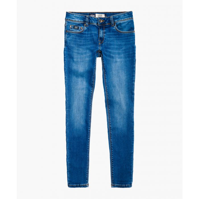 Image for Cassie blue cotton blend skinny jeans