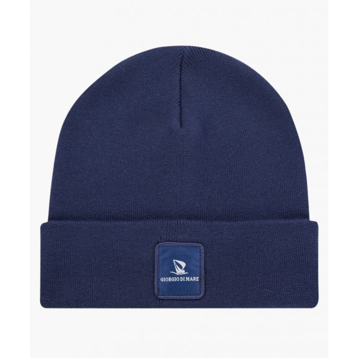 Image for Navy pure cotton hat