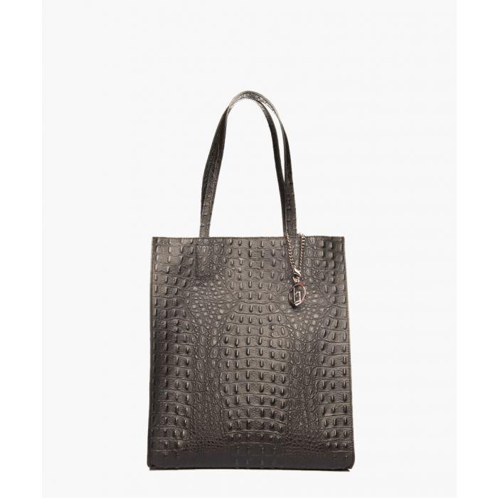 Image for Allia black leather shopper