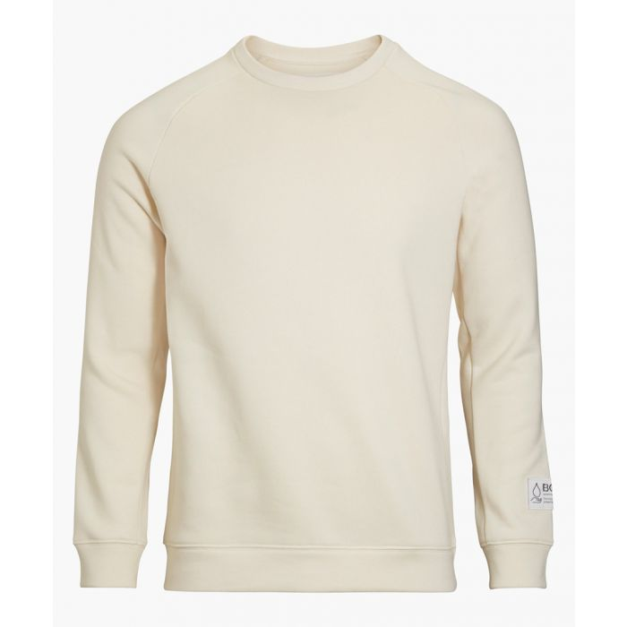 Image for Light beige organic cotton blend crew neck top