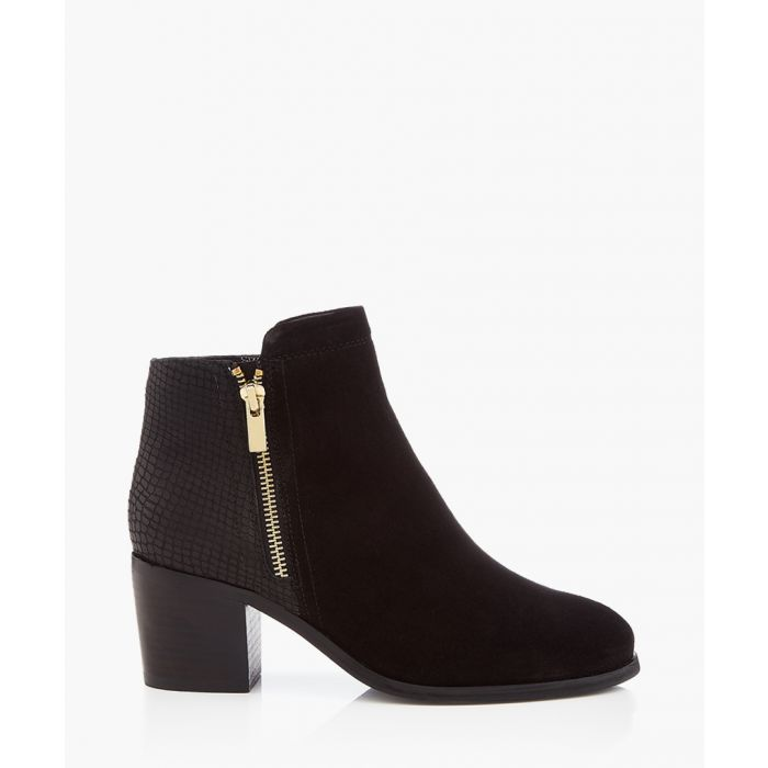 Image for Black block heel ankle boots