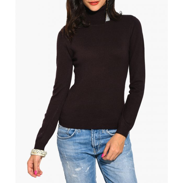 Image for Brown cashmere and silk blend jumper