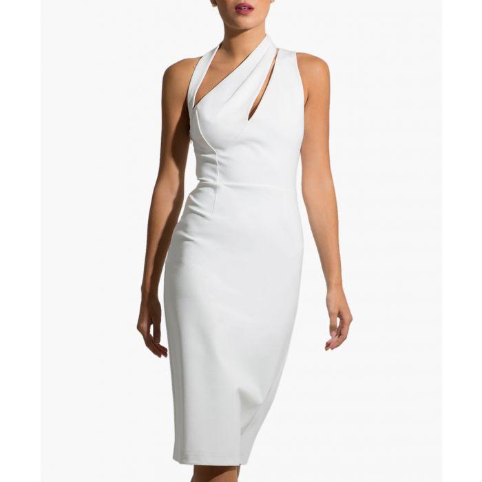 Image for Florence white midi dress