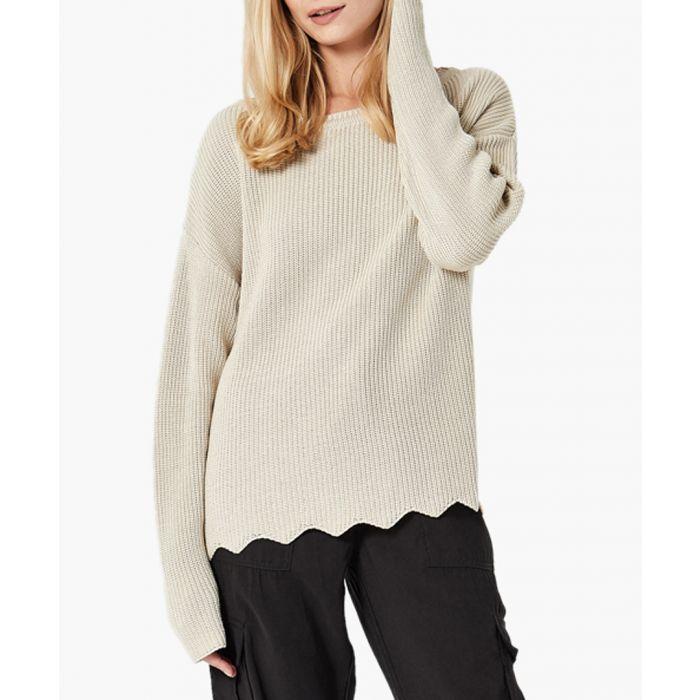 Image for Beige loose cut jumper
