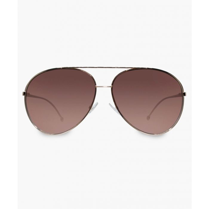 Image for Gold-tone and brown gradient sunglasses