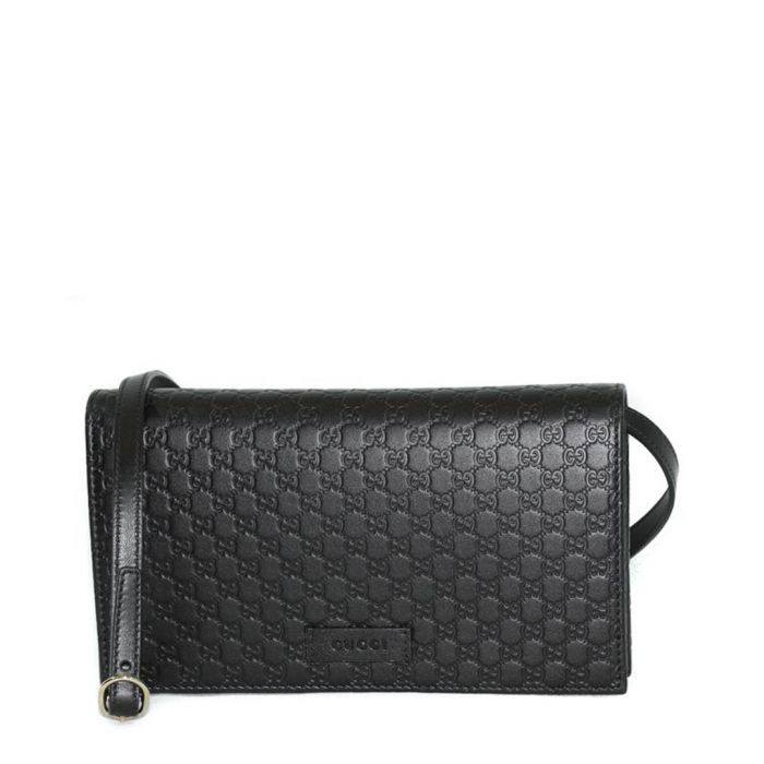 Image for Guccissima black leather crossbody