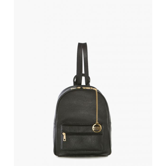 Image for Lagosta black leather backpack