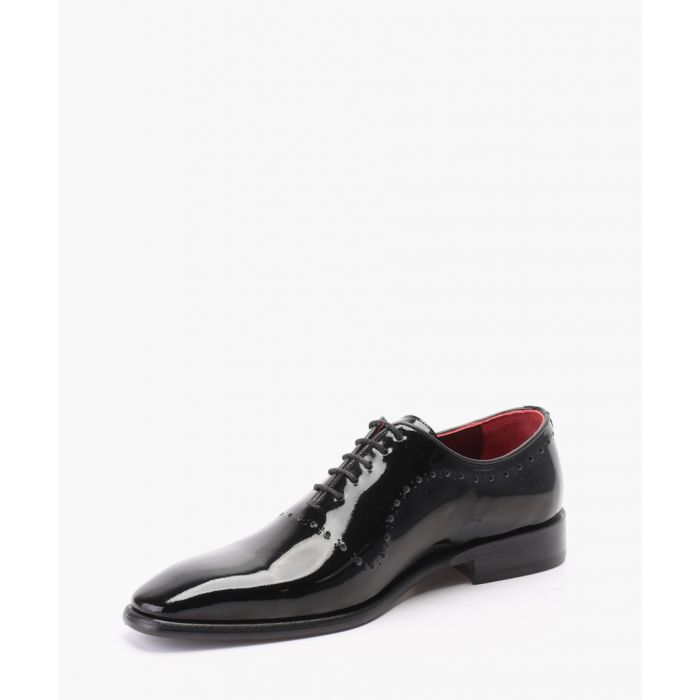 Image for Black patent leather oxford shoes