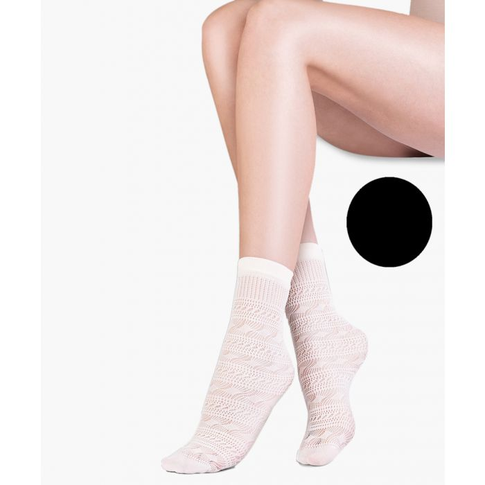 Image for Sol black ankle socks 20 denier