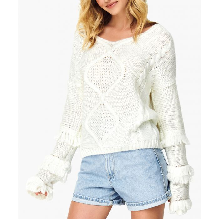 Image for White wool blend jumper