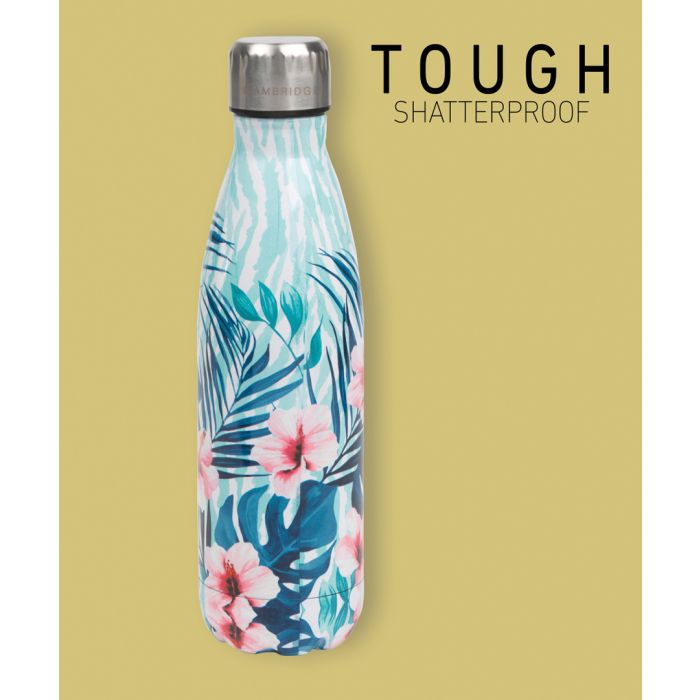 Image for Cambridge CM07014 Tropical Hibiscus Thermal Insulated Flask Bottle, 500 ml