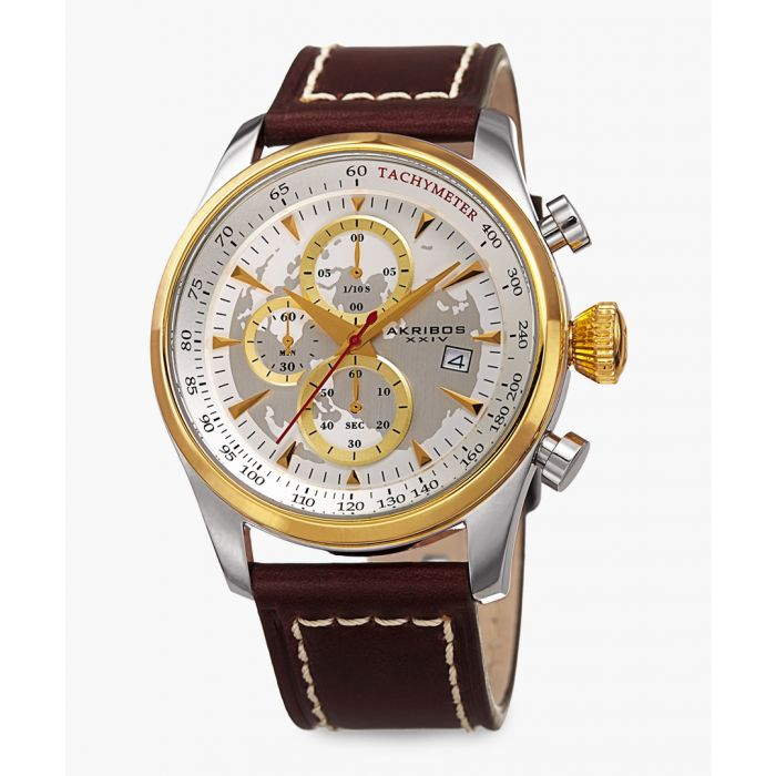 Image for Dual-tone and leather watch