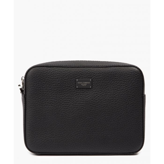 Image for Black calfskin palermo clutch