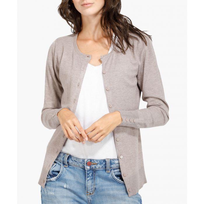 Image for Beige cashmere blend cardigan