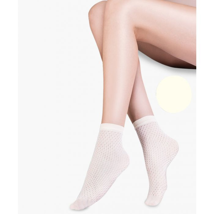 Image for Mia ecru ankle socks 20 denier