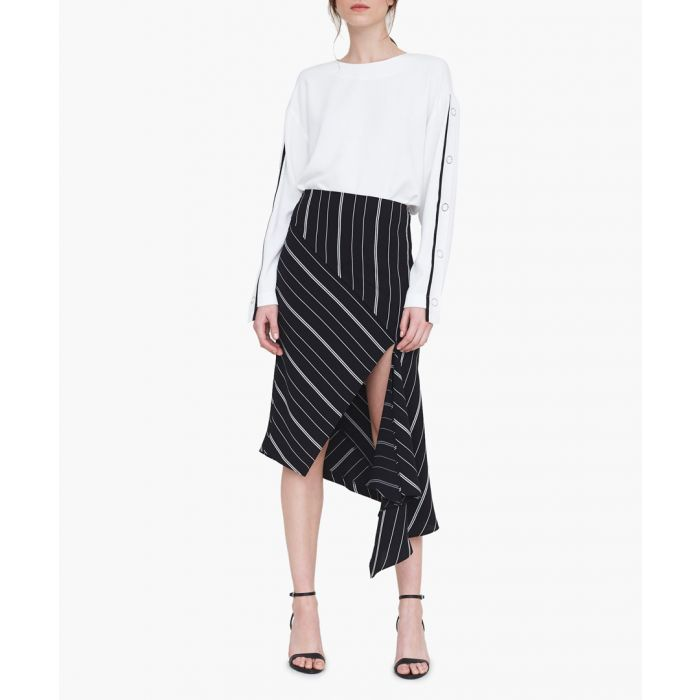 Image for The Leighton black striped skirt