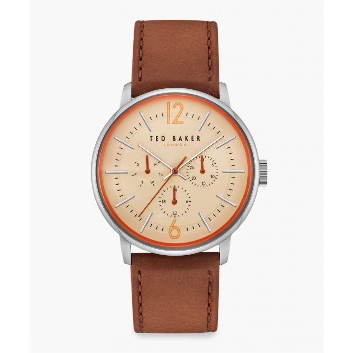 Image for Jason brown leather and stainless steel watch