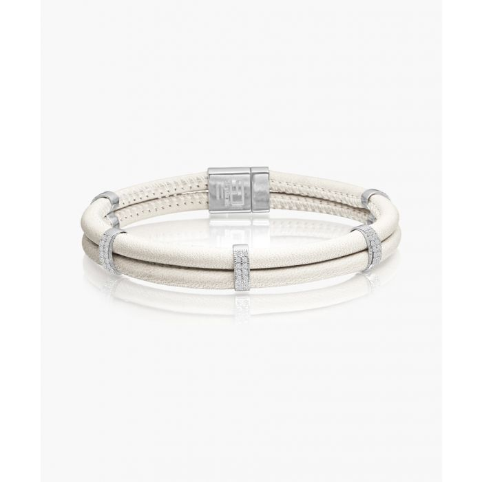 Image for Modena white and silver-plated bracelet