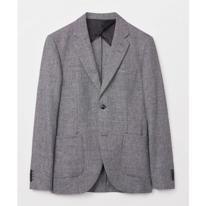 Image for Grey linen and cotton blend blazer