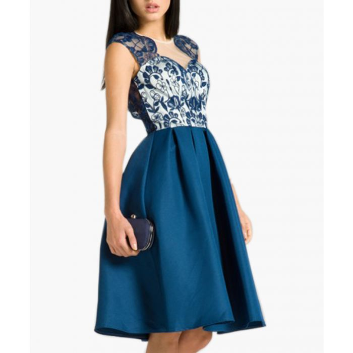 Image for Antonia navy knee-length dress