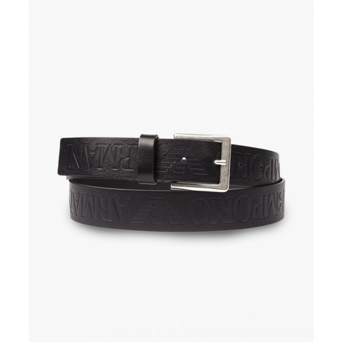 Image for Black logo leather belt