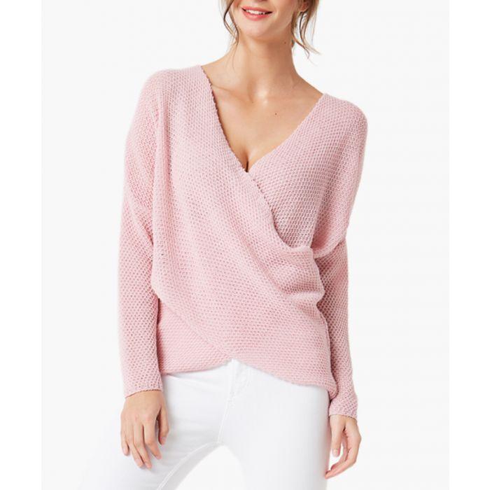 Image for Powder pink loose cut jumper