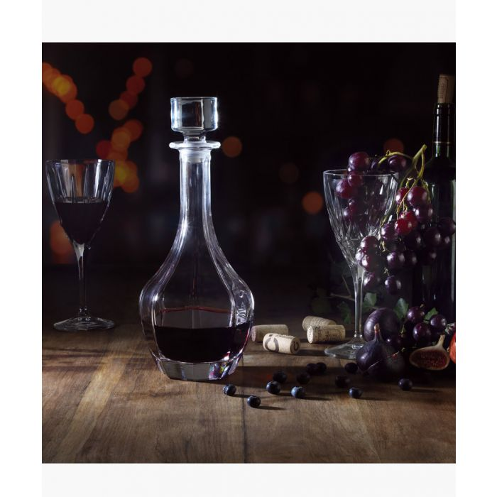Image for Chic Tall Round Luxion Crystal wine decanter 1L