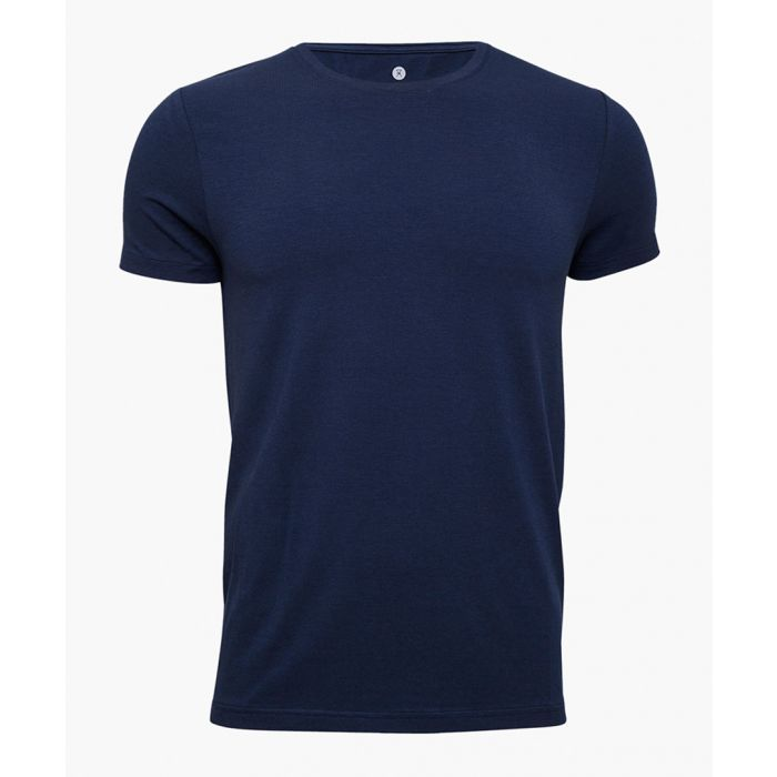 Image for Bamboo viscose and organic cotton blend round neck T-shirt