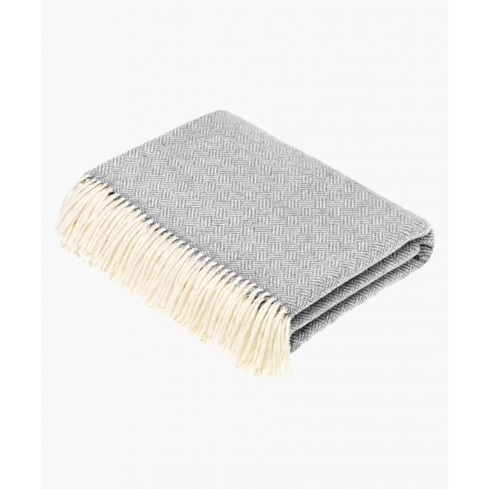 Image for Grey parquet pure wool throw