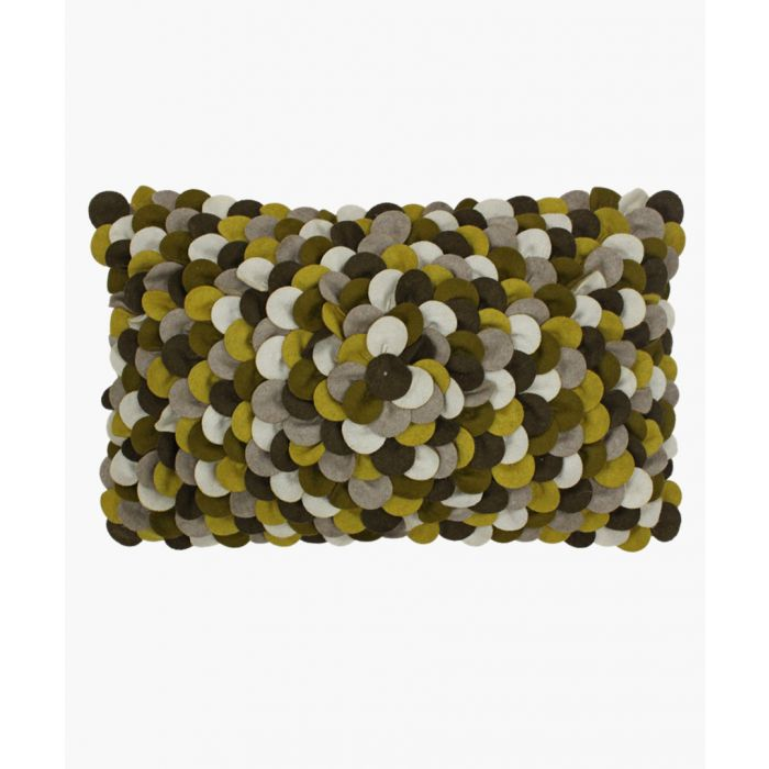 Image for Petals olive textured cushion