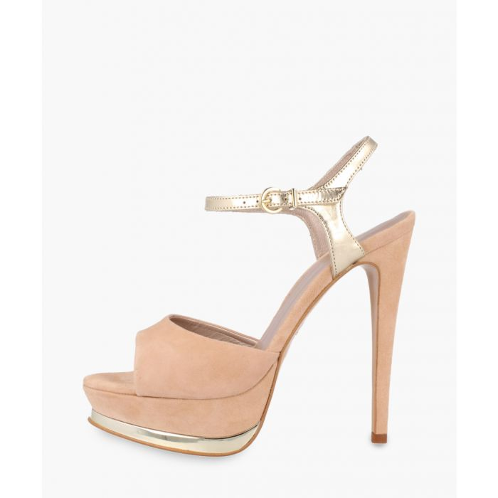 Image for Nude leather heels
