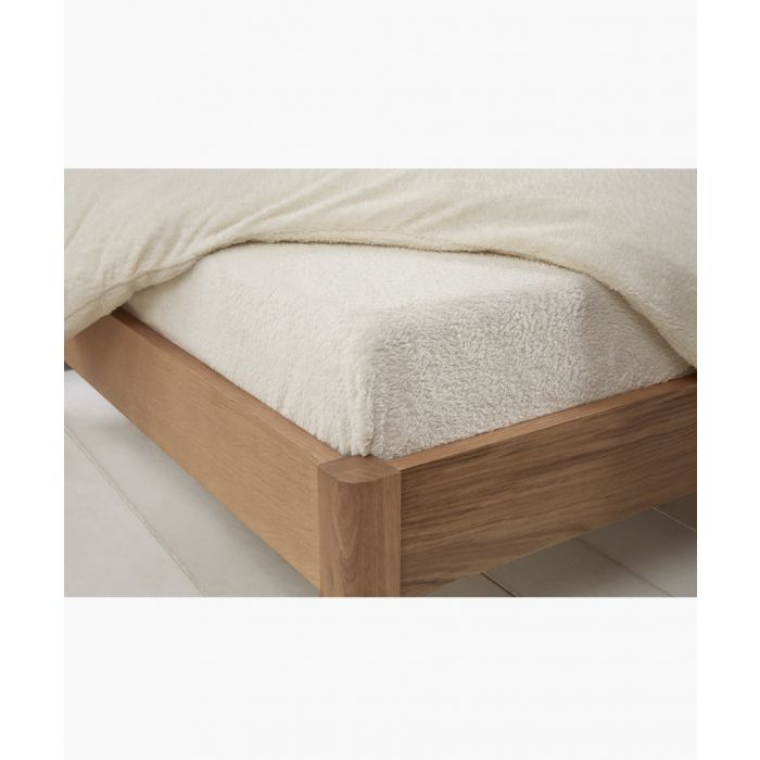 Image for Cream single teddy fitted sheet