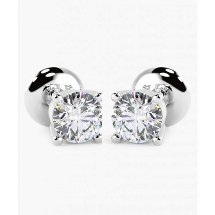 Image for 9k white gold and 0.25ct diamond stud earrings
