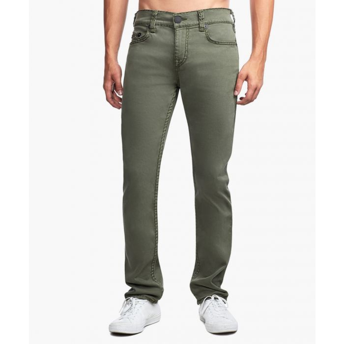 Image for Rocco military green super stitch jeans