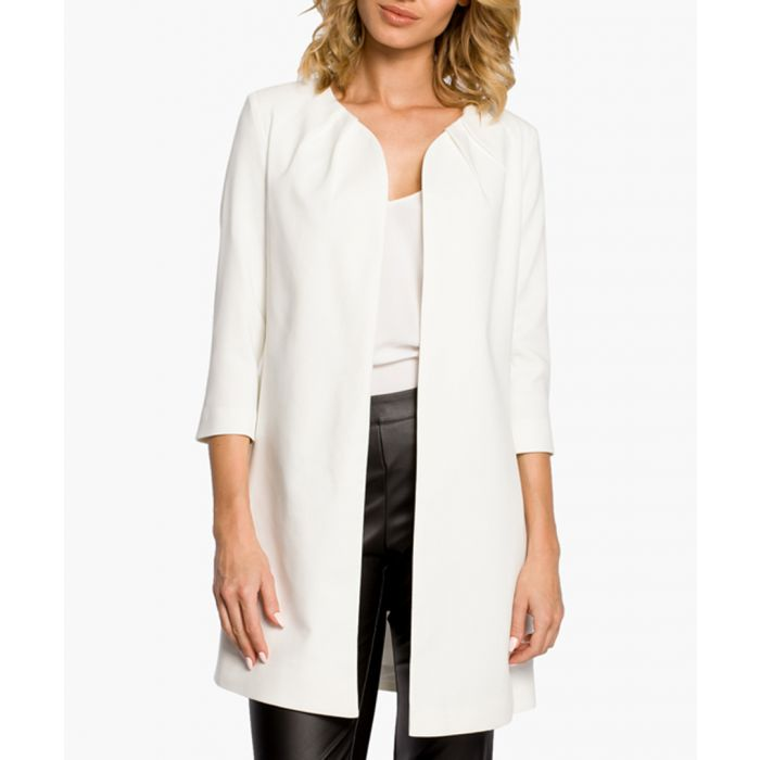 Image for White Wool Blend Jacket