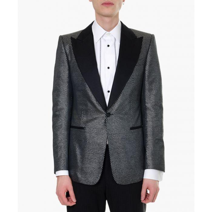 Image for Multi-coloured jacquard blazer