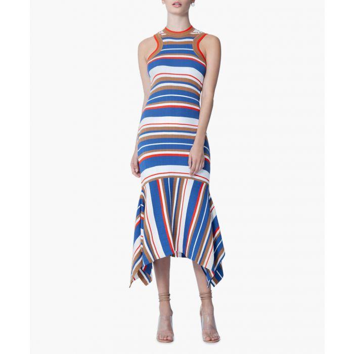 Image for Stripe Adorlee striped midi dress