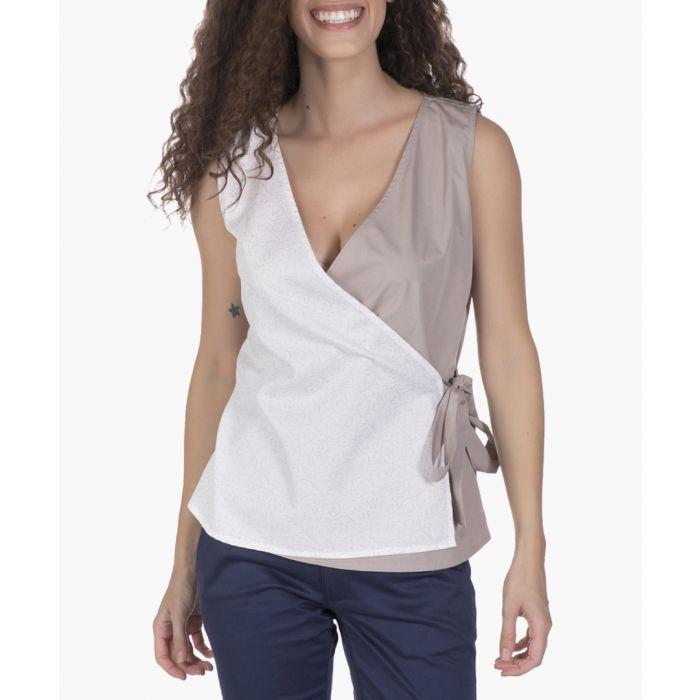 Image for Beige cotton blouse