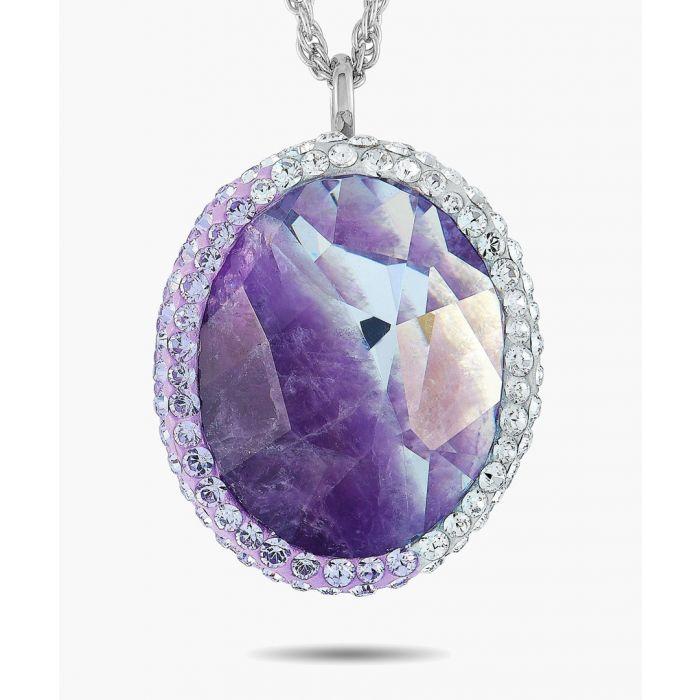 Image for Violet swarovski cubic zirconia necklace