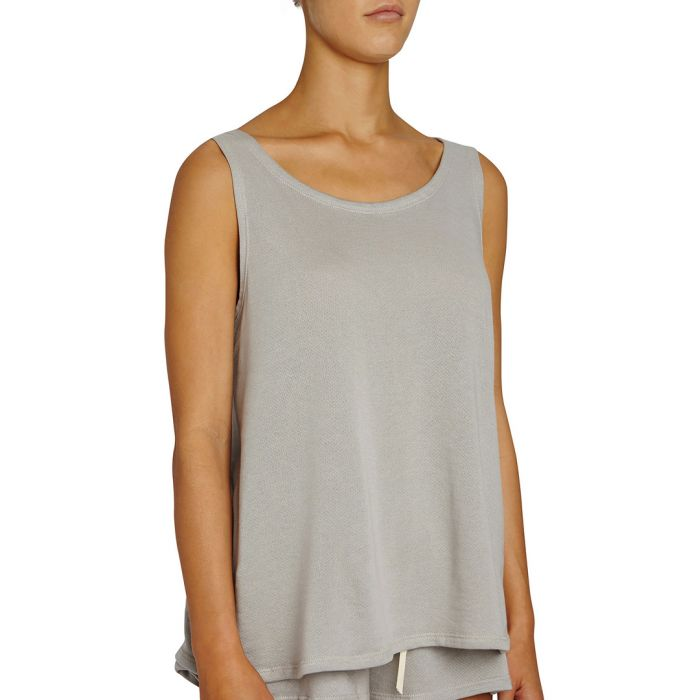 Image for Walker warm grey supima cotton-blend tank top