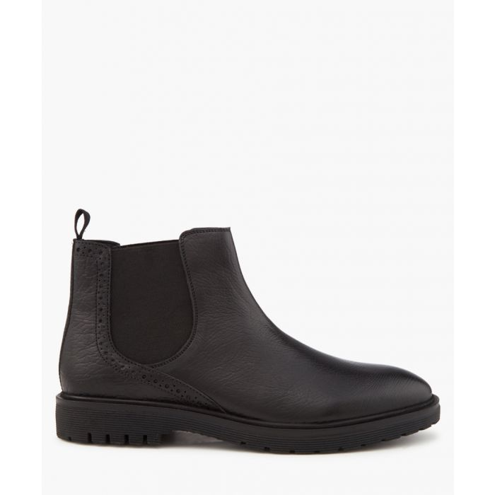 Image for Chester black leather Chelsea boots