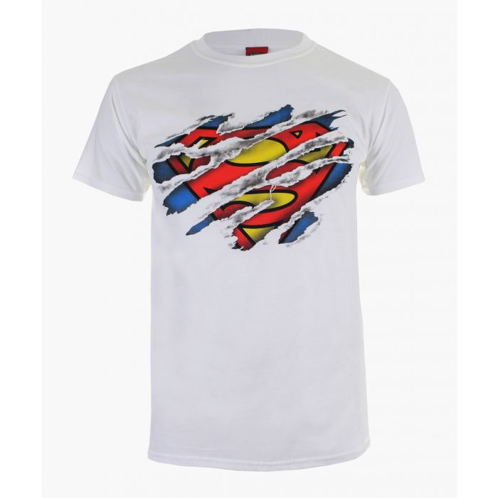 Image for Superman Torn white cotton T-shirt