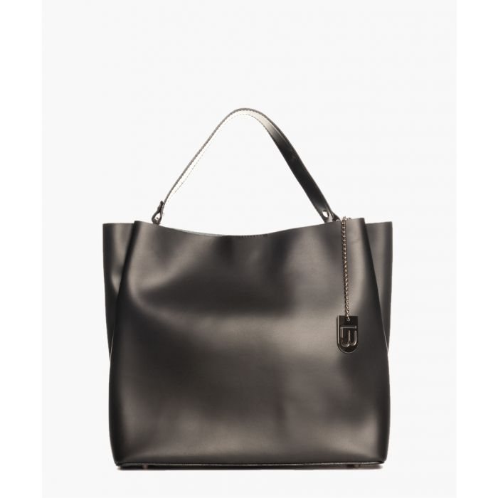 Image for Avellino black leather grab bag